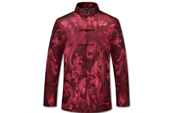 【龙的传人】男士寿衣全七件套