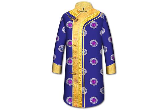 【龙袍蓝色】男士寿衣全套