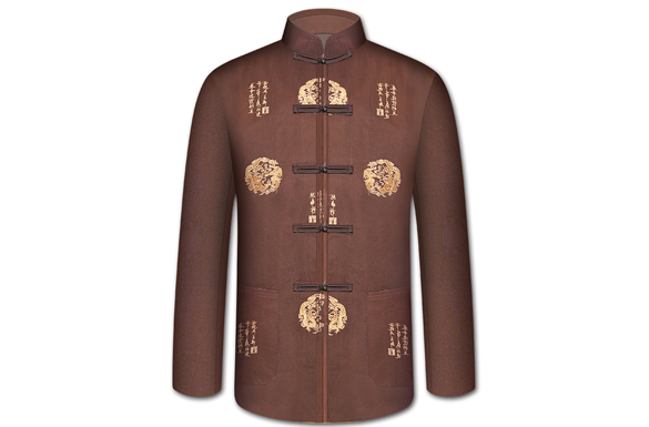 【中华装咖色】男士寿衣全七件套