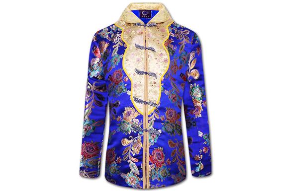 【蓝颜】尊贵华服女士寿衣全套