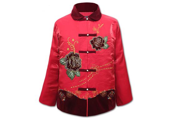 寿衣 女士七件套 【花开富贵】送全套配装