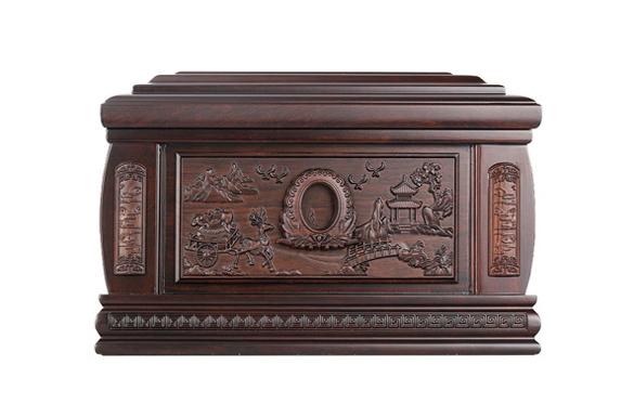 福宫黑紫檀骨灰盒