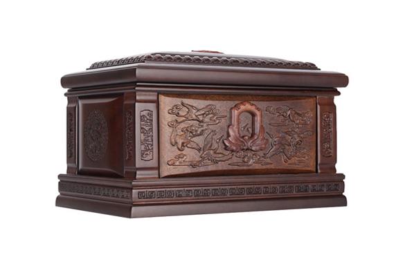 鹤园非洲小黑檀骨灰盒